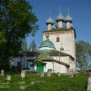 Большие Всегодичи, Успенская церковь, западный фасад