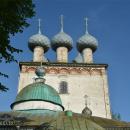 Большие Всегодичи, Успенская церковь, фрагмент западного фасада