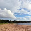 Бухта Батарейная, песчаный пляж