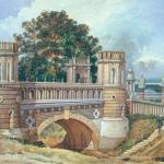 Усадьба Царицыно, Фигурный мост. 1896, А.Н. Голицын, акварель