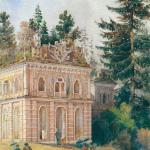 Усадьба Царицыно, Оперный дом. 1893, А.Н. Голицын, акварель
