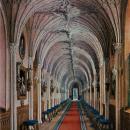Большой Гатчинский дворец, Готическая галерея. Акварель Э. Гау, 1872