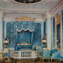 Большой Гатчинский дворец, Парадная опочивальня. Акварель Л.О. Премацци, 1872