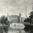 Большой Гатчинский дворец, старинная гравюра