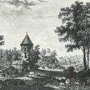 Вид Пиль-башни С.Ф. Щедрин, гравюра А.Г. Ухтомского