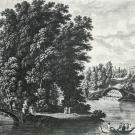 Вид дворца в Павловске и колоннады Аполлона. С.Ф. Щедрин, гравюра А.Г. Ухтомского