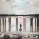 Ч. Камерон Проект колоннады Аполлона 1779 г. (тушь, акварель)