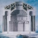 Ч. Камерон Проект Храма Дружбы (тушь, акварель)