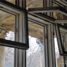 Пансионат Полушкино, большое панорамное окно типового номера