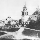 Усадьба Полотняный Завод, вид на церковь (архивное фото)