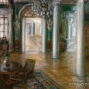 Художник А.В. Средин. Зала в Полотняном Заводе. 1912 г.
