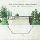 План и фасад балкона по обеим сторонам моста. Арх. А.Н. Львов