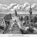 Усадьба Грузино. Вид на собор и площадь от главного дома