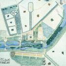 Усадьба Грузины. Генеральный план усадьбы. 1834 г.