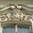 Петергоф усадьба Знаменка, оконное очелье окна главного дома