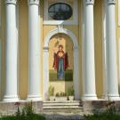 Петергоф усадьба Знаменка, церковь Петра и Павла (фрагмент фасада)