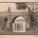 И.В. Жолтовский. Проект моста-запруды в имении Липовка под Москвой, 1908 г.