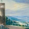 Усадьба Мещерское. Вид на окрестную местность от смотровой башни. Конец 1820-х гг. П.А. Герасимов, акварель