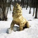 Усадьба Райки, парковая скульптура лев