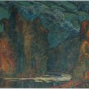 Райки. Осень.Сумерки Художник В.И. Денисов, 1911