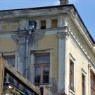Усадьба Сергиевка, фрагмент фасада главного дома и перголы