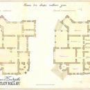 Усадьба Тарасково, планы 1-го этажа главного дома. Реконструкция арх. А.В. Дунаевой, 2001 г.