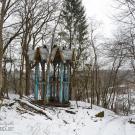 Заброшенный пионерский лагерь Ясная горка, беседка