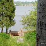 Дача Севрюгова в Кинешме, вид на пристань от главного дома