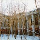 Усадьба Денежниково, главный дом (лоджия со стороны парадного двора)