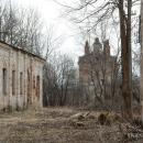 Усадьба Дольское главный дом и церковь