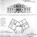 Дом-дача Китаевой в Царском Селе, план и фасад 1826г.