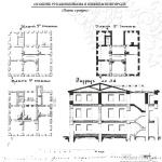 Усадьба Рукавишниковых Нижний Новгород, планы и разрез до реконструкции