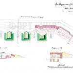Форт Ино (Николаевский). План открытой батареи на 4 пушки