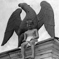 Усадьба Горенки. Скульптура орла, украшавшая парковую лестницу