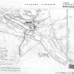 План усадьбы Горенки. Обмер Е.П. Щукиной