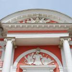 Усадьба Кусково дворец, лучковый фронтон