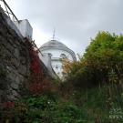 Усадьба Любвино главный дом со стороны подпорной стенки