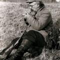 М.М. Пришвин на охоте. Загорск, 1930-е гг.