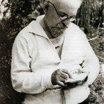 М.М. Пришвин с записной книжкой. 1940-е гг.