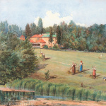 Мураново. Усадебный дом и луг перед ним. Д.В. Путята, 1868 г.
