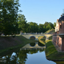 Въезд в замок Несвиж и мост через водяной ров