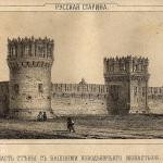 Новодевичий монастырь, ограда с башнями