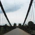 Висячий цепной мост через р. Великая в г. Остров