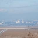 Усадьба Остров, вид на Угрешский монастырь