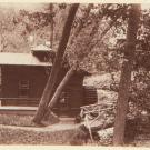 Деревянный домик в парке Александрия