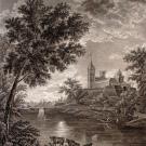 Вид крепости города Павловска при лунном сиянии, А.Г. Ухтомский, 1800