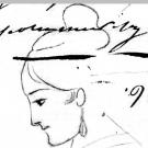 Анна Петровна Керн, рисунок А.С. Пушкина