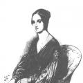 Портрет А. П. Керн. С акварели А. Деверо, 1829 г.