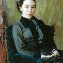Н.В. Поленова (жена художника). Н.Д. Кузнецов, 1885 г.