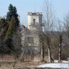 Усадьба Филиппова Роднево, главный дом, вид от валов бывшего Перемышля